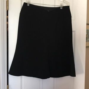Giorgio Armani Black Wool Skirt 14